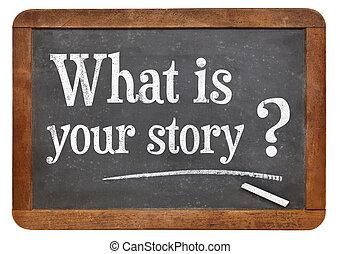 que, é, seu, história, pergunta