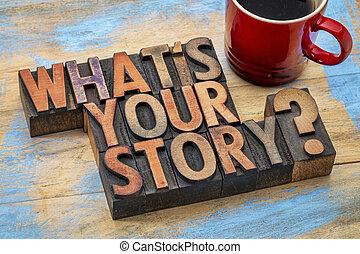 que, é, tu, história, pergunta