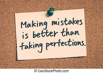 que, mejor, fingir, errores, elaboración, perfections
