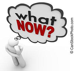 que, pensando, pergunta, pensamento, pessoa, palavras, agora, nuvem