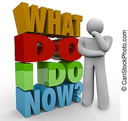 que, pensando, pergunta, pessoa, pensador, agora