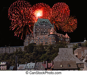 Chateau Frontenac - Quebec City and Chateau Frontenac at...