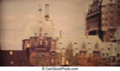 Quebec City And Saint Lawrence 1958 - A left to right pan of...