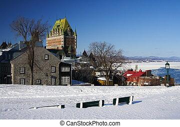 Quebec City most famous landmark, Ch�teau Frontenac