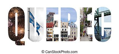 quebec city - Quebec city colorful landmarks letters