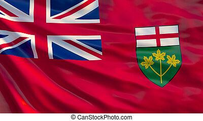 Quebec flag. Waving flag of Quebec province, Canada