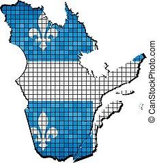 Quebec map with flag inside