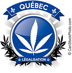 Quebec province cannabis legalisation symbol