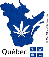 Quebec province of canada cannabis legalization vector - ...