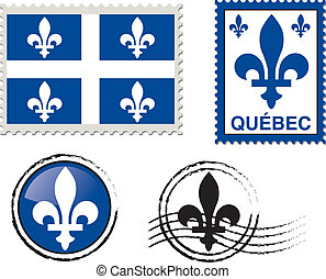 Quebec stamp illustration - quebec canadian province...
