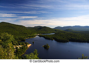 Quebec wilderness: Lac Monroe in Mont-Tremblant national ...