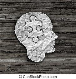 quebra-cabeça, cabeça, solução