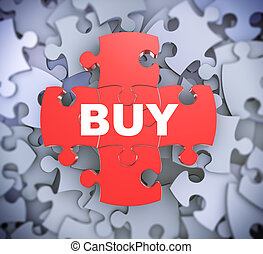 quebra-cabeça, compra, -, 3d, pedaços