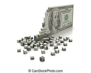 quebra-cabeça, dólar