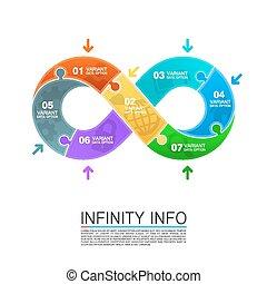 quebra-cabeça, infinidade, ícones