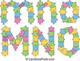 quebra-cabeça, jigsaw, alfabeto, letras