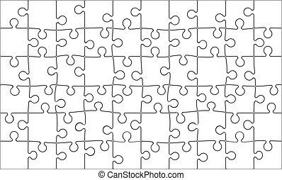quebra-cabeça, jigsaw