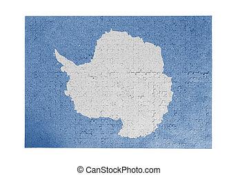 quebra-cabeça, jigsaw, grande, pieces-, antártica, 1000