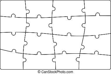 quebra-cabeça, jigsaw, modelo