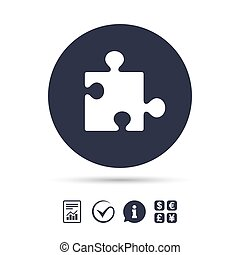 quebra-cabeça, sinal, símbolo., estratégia, icon., pedaço