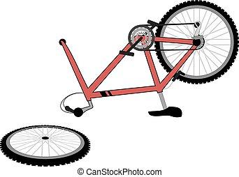 quebrada, bicicleta