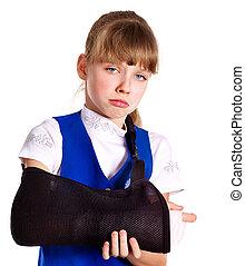 quebrada, cast., braço