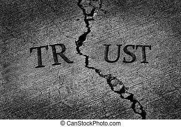 quebrada, confiança