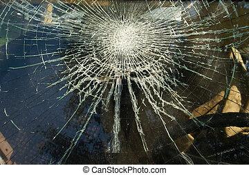 quebrada, janela, pretas, sujo, vidraça, branca