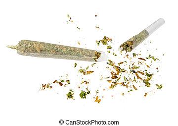 quebrada, marijuana, conjunto