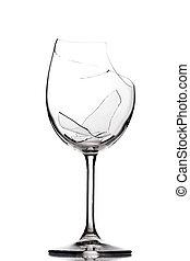 quebrada, vidro vinho
