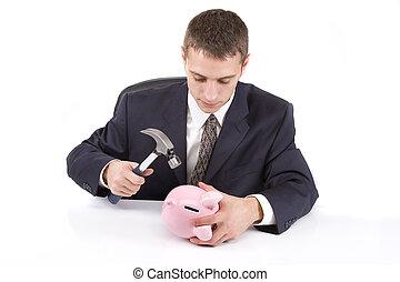 quebrar, a, banco