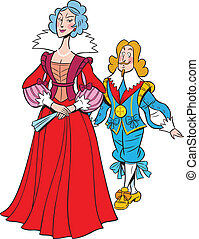 queen and king - The illustration shows the queen and the...
