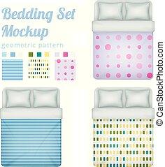 Queen Bedding Patterns Set