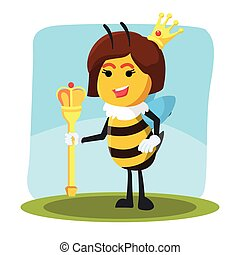 queen bee vector illustration design