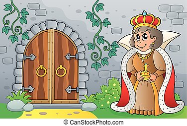 Queen by old door theme image 1
