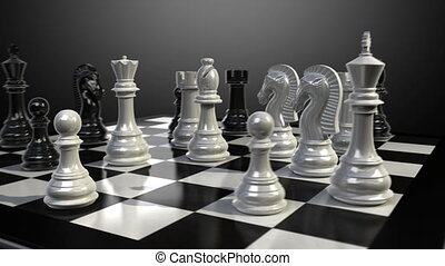 Queen chess fall down animation. - Put the queen on a...