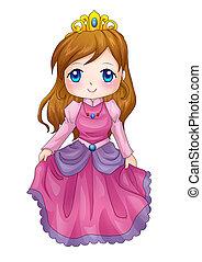 Queen - Cute cartoon illustration of a queen