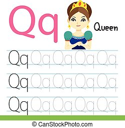 queen drawing line vector design