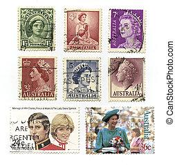 Queen Elizabeth, Stamps - Australia - 1950 - 2000: Queen ...