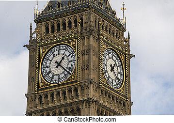 Queen Elizabeth Tower Big Ben London at Houses of Parliament