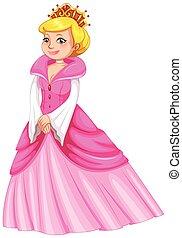 Queen in pink dress