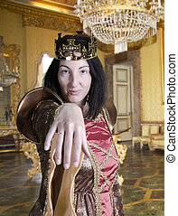 queen in the castle give the hand for kiss