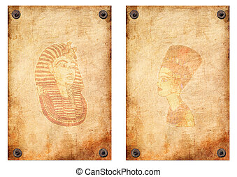 queen Nefertiti, Pharaoh papyrus