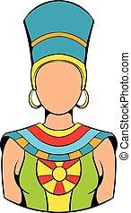 Queen of Egypt icon cartoon