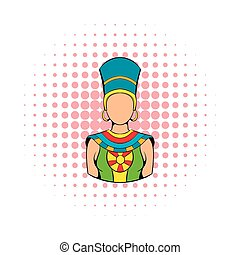 Queen of Egypt icon, comics style