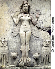 Queen Of The Night - Ancient Babylonian figure dating from...
