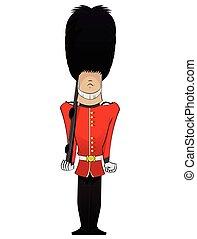 Queen Soldier illustration - Queen Soldier cartoon . Vector...