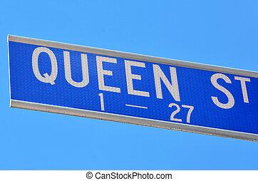 Queen Street signpost