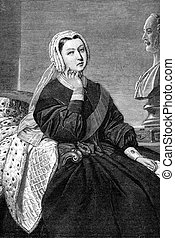 Queen Victoria - An engraved illustration image of Queen...