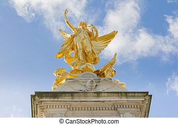 Queen Victoria Memorial in London, UK